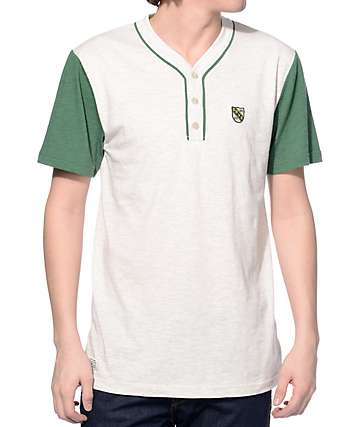 Dravus Home Field Green and Oatmeal Henley T-Shirt