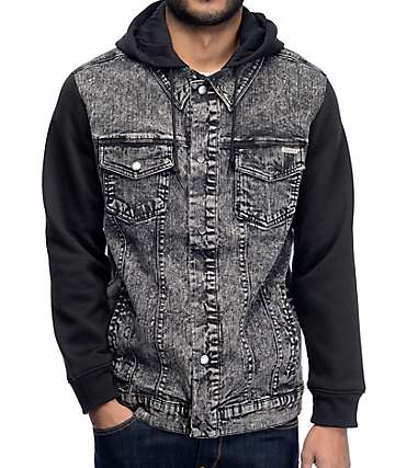 Dravus Hudson Black & Charcoal Denim Jacket