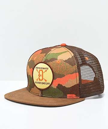 Dravus Hunters gorra trucker camuflada en marrón