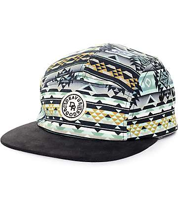 Dravus Icicle Black 5 Panel Hat