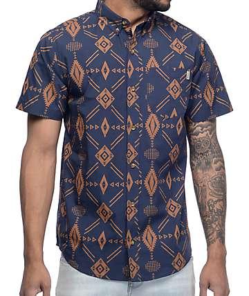 Dravus Joshua Tree Dark Ikat Woven Shirt