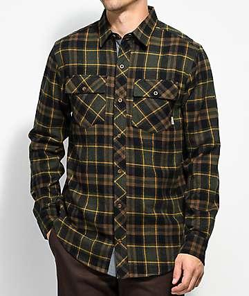 Dravus Jubal camisa de franela en verde, negro y dorado