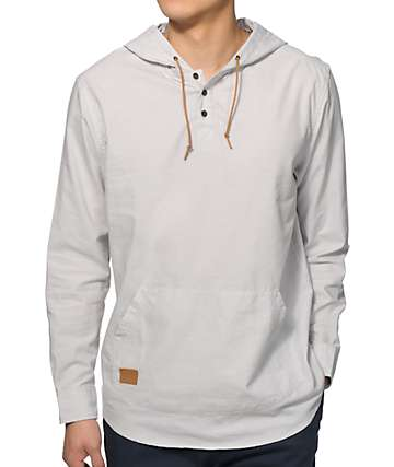Dravus Morro Oxford Hooded Henley Shirt