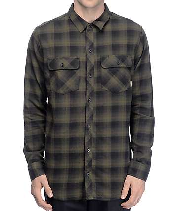 Dravus Neb Olive & Black Shadow Flannel Shirt
