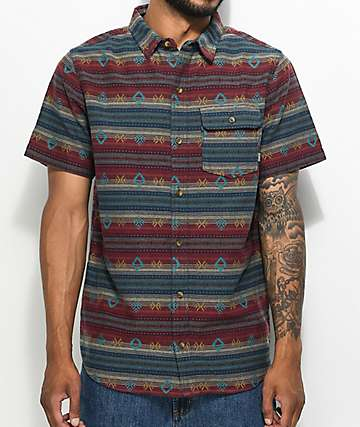 Dravus Newb Tribal Button Up Shirt