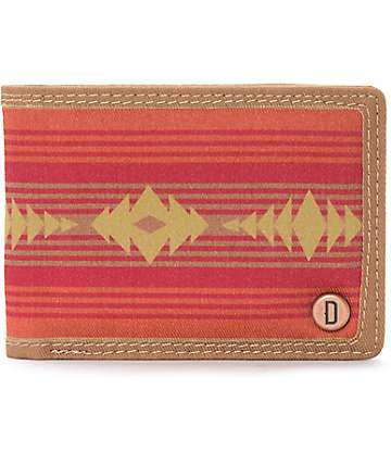 Dravus Only cartera plegable en rojo y marrón