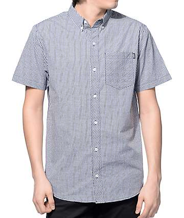 Dravus Pacific Navy and White Gingham Button Up Shirt