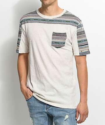 Dravus Packer camiseta de punto jacquard en color natural