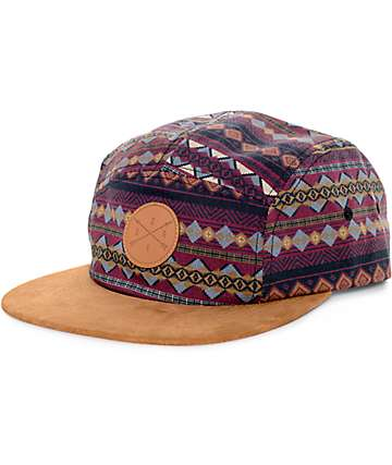 Dravus Red Rocks Dark Red and Brown 5 Panel Hat