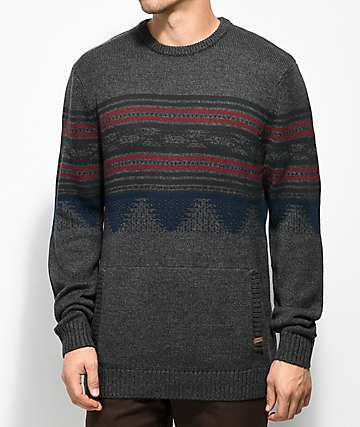 Dravus Redding Charcoal Crew Neck Sweater