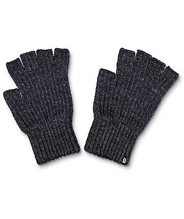 Dravus Ribless Heather Charcoal Fingerless Gloves