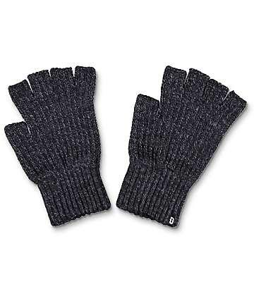 Dravus Ribless guantes sin dedos en color carbón