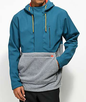 Dravus Riley Color Blocked Tech Fleece Anorak Jacket