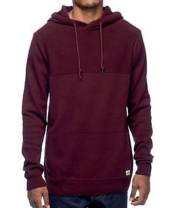 Dravus Roald Burgundy Hooded Sweater