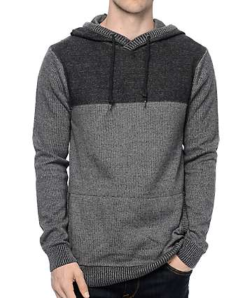 Dravus Roald Grey & Charcoal Knit Hoodie