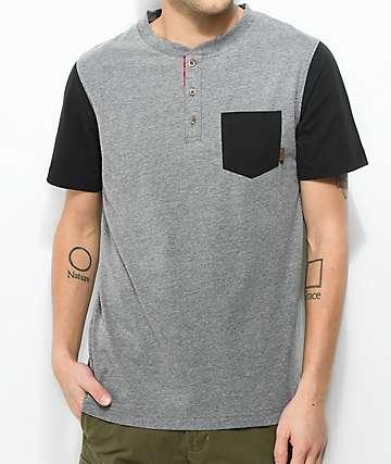Dravus Sail Black & Grey Pocket T-Shirt