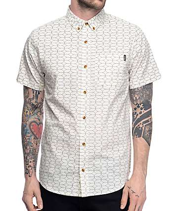 Dravus Sam Off White Short Sleeve Button Up Shirt