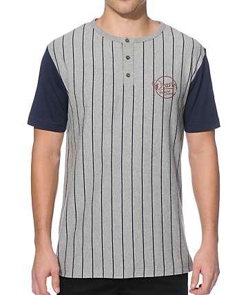 Dravus Slugger Pinstripe Henley T-Shirt