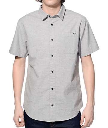Dravus Spirit Grey Jasper Slub Knit Button Up Shirt