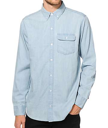 Dravus Spruce Chambray Long Sleeve Button Up Shirt