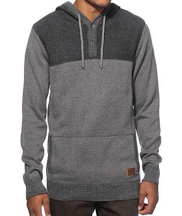Dravus Stories Hooded Henley Sweater