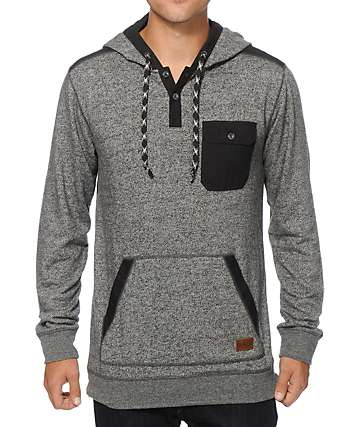 Dravus Take A Hike Hooded Henley Shirt
