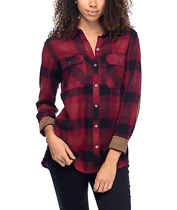 Dravus Tenino Red & Black Flannel Shirt