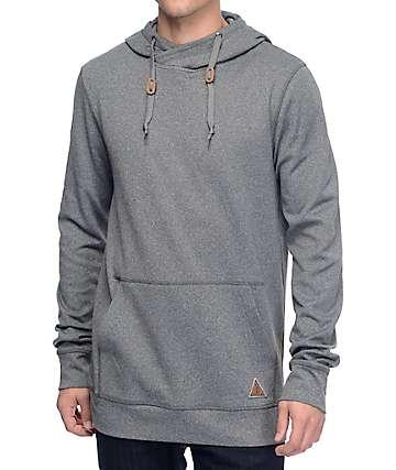Dravus Totem chaqueta polar con cuello cruzado en gris