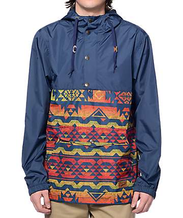 Dravus Trail Navy Tribal Anorak Jacket