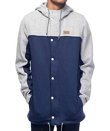Dravus Ultralight sudadera con capucha en gris y azul marino