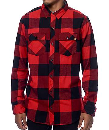 Dravus Uncle Sam Red & Black Buffalo Flannel Shirt