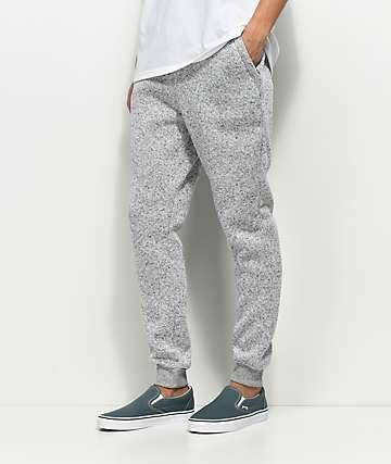 Dravus Unruly pantalones joggers en gris jaspeado de punto