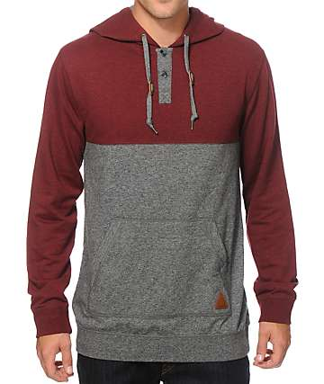 Dravus Wherever You Go Hooded Henley Shirt