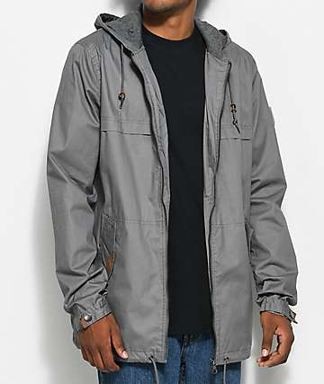 Dravus Woodland Charcoal Anorak Jacket