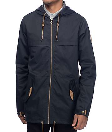 Dravus Woodland Full Zip Black Anorak