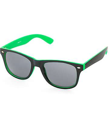 Dream On Green & Black Sunglasses