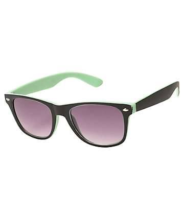 Dreamy Black & Mint Sunglasses