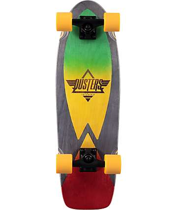 "Dusters Cazh Rasta 28.5"" Cruiser Complete Skateboard"