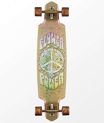 """Dusters Flower Power Hemp 38"""" Drop Through Longboard Complete"""
