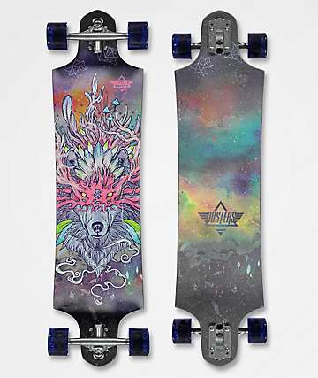 "Dusters Lupa 38"" drop through longboard completo"