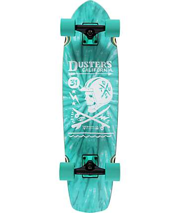 "Dusters Moto Turquoise Tie Dye 31""  Cruiser Complete Skateboard"