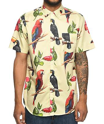 Duvin Birdie Natural Button Up Shirt