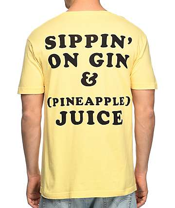 Duvin Design Gin & Juice camiseta en color amarillo