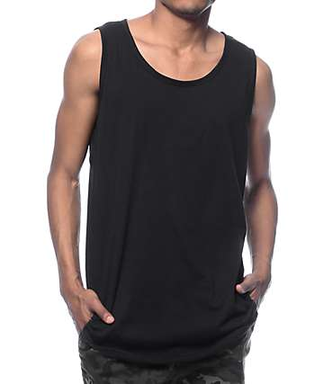 EPTM Basic Black Long Tank Top