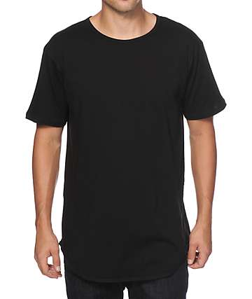 EPTM Basic Elongated Drop Tail Long T-Shirt