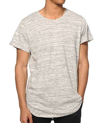 EPTM Basic Marble Drop Tail Long T-Shirt