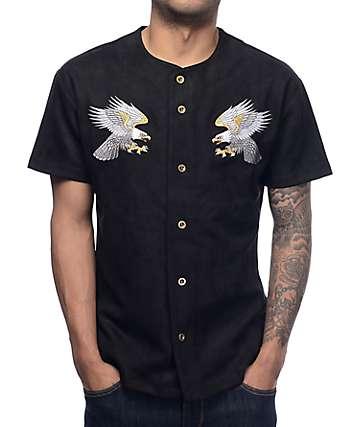 EPTM Black Suede Eagle Souvenir Baseball Jersey