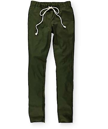 EPTM Break Beats Olive Green Chino Pants