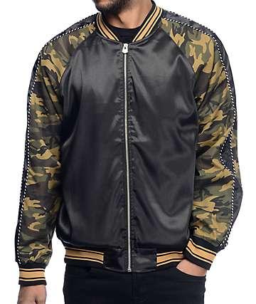 EPTM Camo Black Souvenir Bomber Jacket