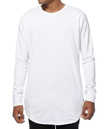 EPTM Elongated Basic Drop Tail Long Sleeve T-Shirt